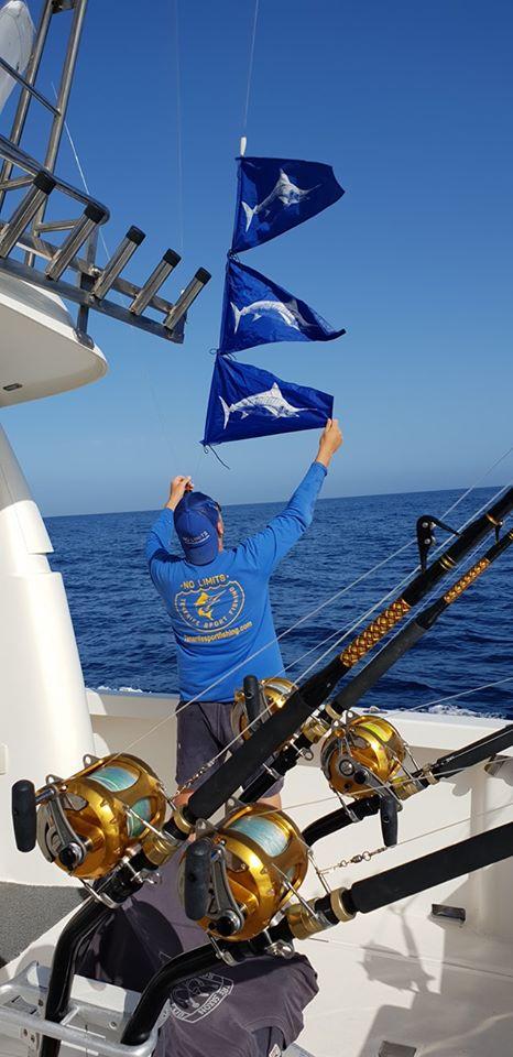 flags of fishing boat in Costa Adeje