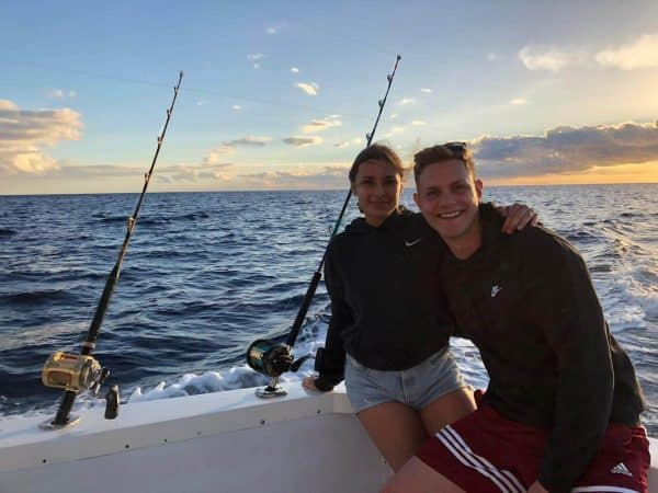 Couple fishing together in Costa Adeje
