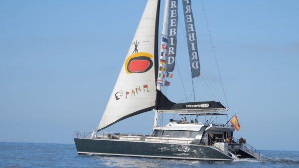 Freebird boot op een walvistocht