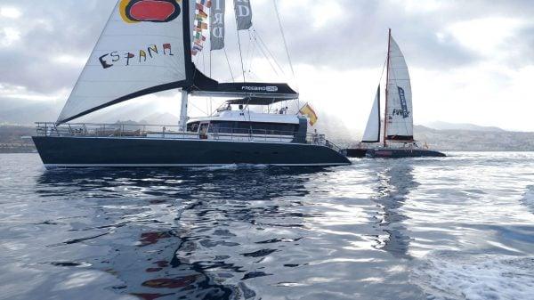 2 Catamarans from Freebird alongside each other