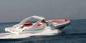 A luxury boat that cruises near Costa Adeje and can be hired from Club Canary
