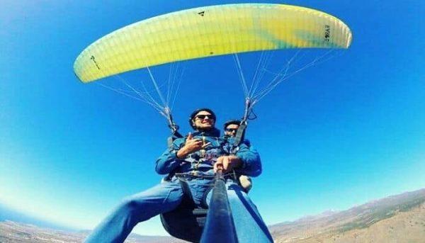 Tenerife fly paragliding flight