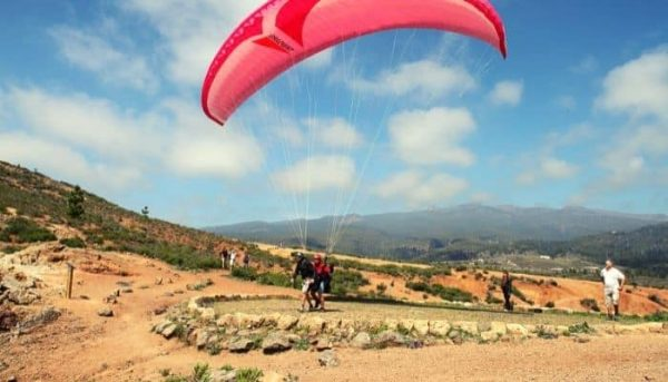 Take-off site of paragliding
