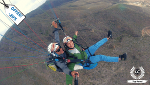 Paragliding above Tenerife