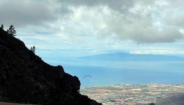 Take-off location of paragliding in Tenerife