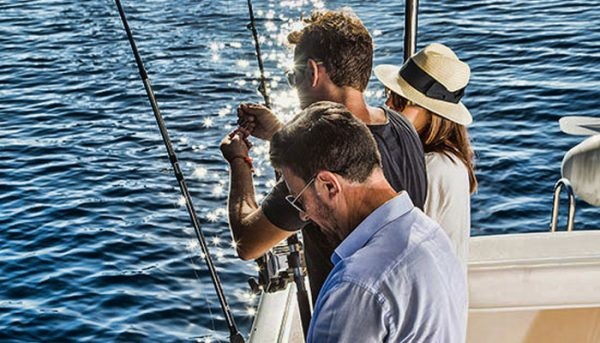 3 people fishing