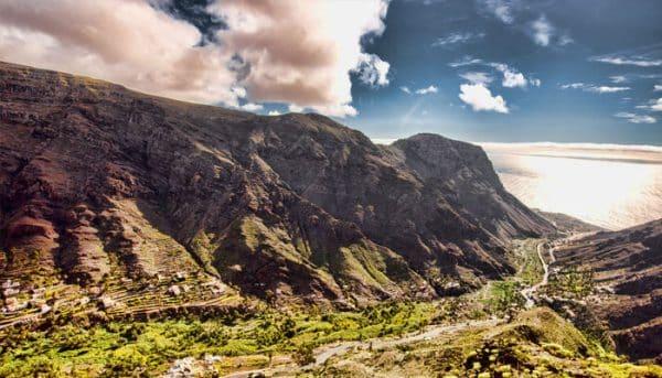 beautiful view of La Gomera