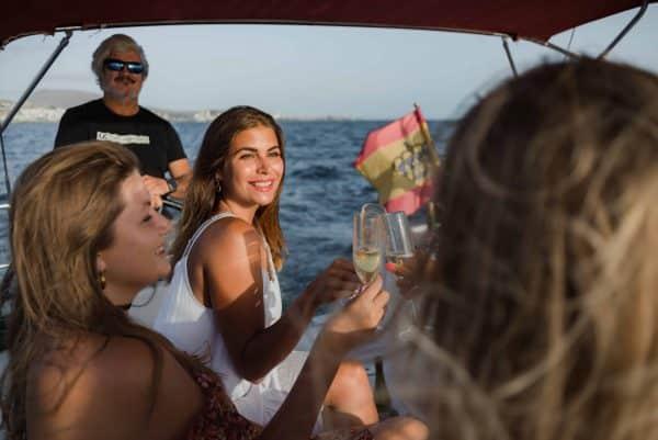 Patricia Mesa on a boat trip in Tenerife