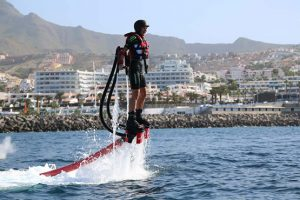 Club Canary is offering the water sport flyboarding