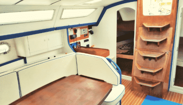 Inside of the skyline boat