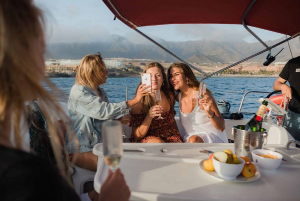 Girls having a good time during a private boat tour