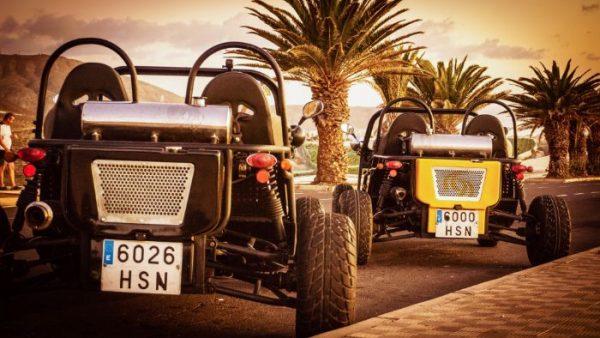 Buggies on the roadside in Tenerife