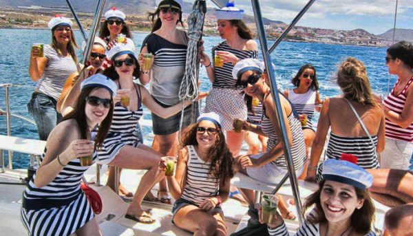 Girl boat party