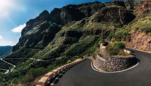 The road through the mountains to Masca