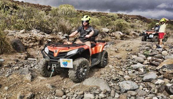 riding a quad off-road