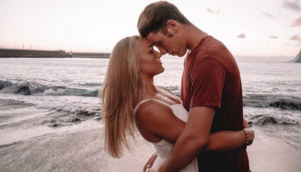 Couple having a romantic moment