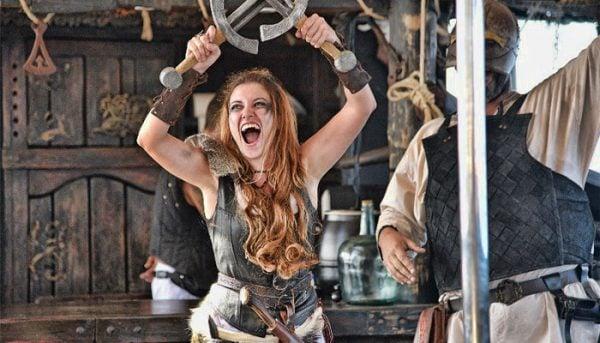 Viking als entertainment op de boot
