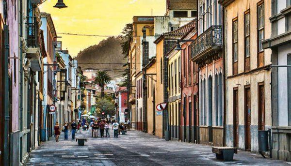 mooie straat in La Laguna