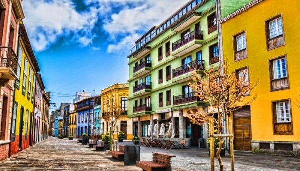 straatbeeld van La Laguna