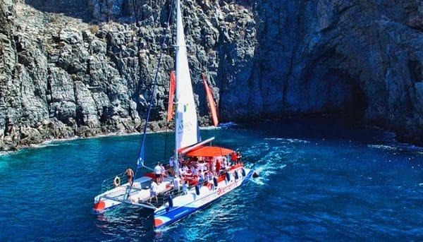 Catamaran tour near Los Gigantes