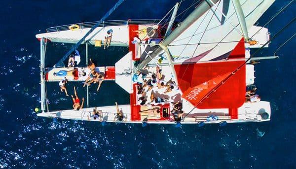White Tenerife boat