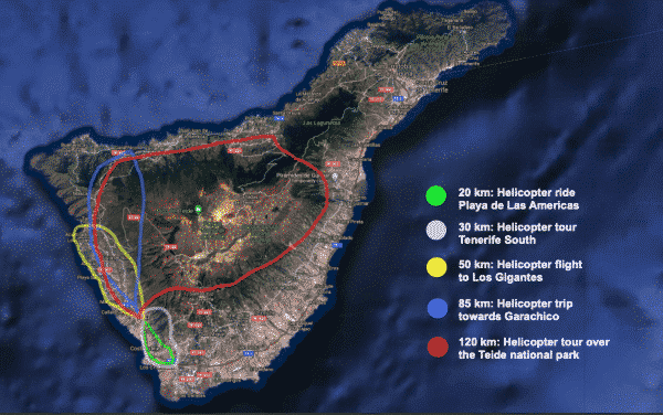 Different helicopter flight routes possible