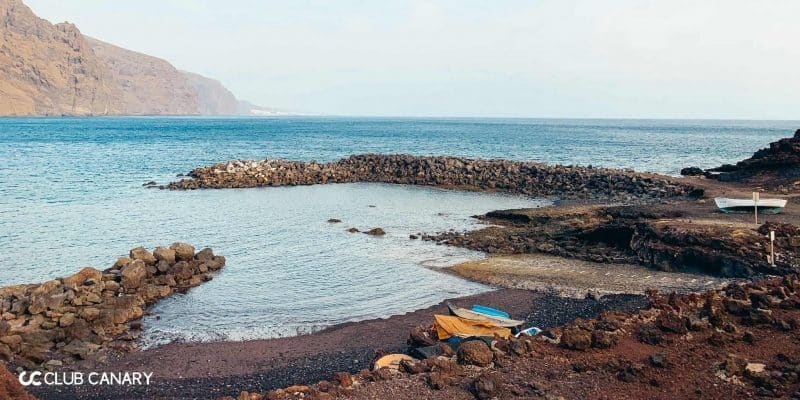Black sand beach located at the very western tip of Tenerife, next to the well-known lighthouse Punta de Teno