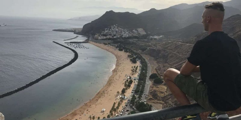 Playa de Las Teresitas is a spaciously laid-out white sand beach in the north of Tenerife