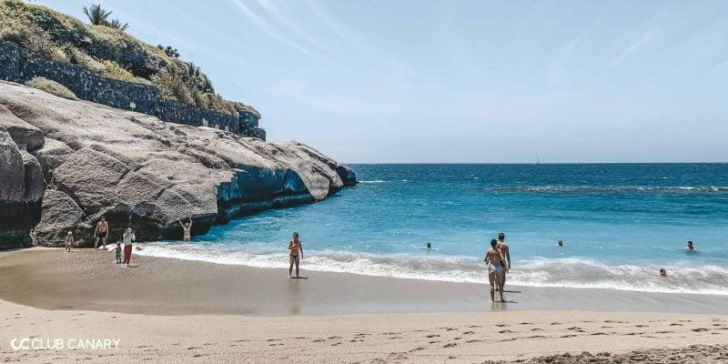 White sand beach Playa del Duque in Tenerife