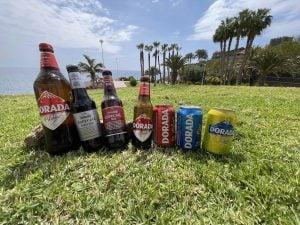 Different Dorada beer bottles