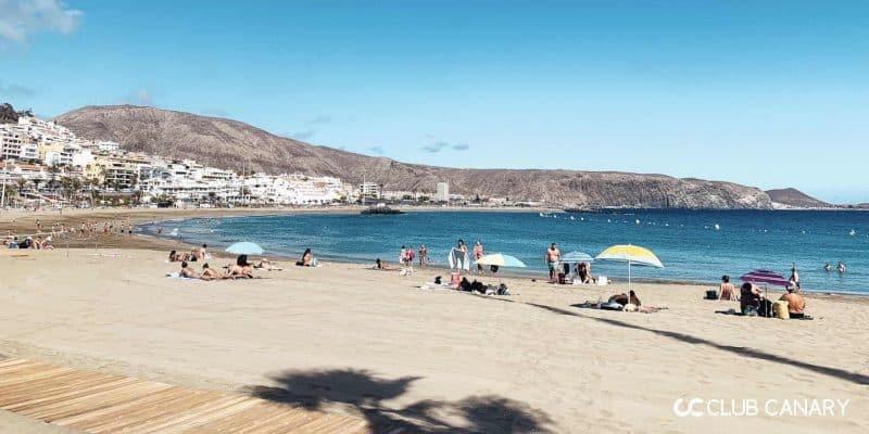 playa de las vistas is one of the most popular beaches in Los Cristianos to visit