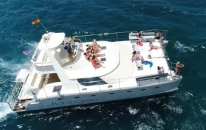 Monte Cristo on a whale and dolphin watching tour near Tenerife