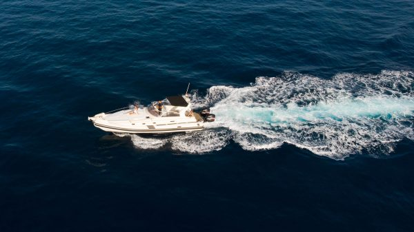 A speedboat hired from puerto colon in Costa adeje