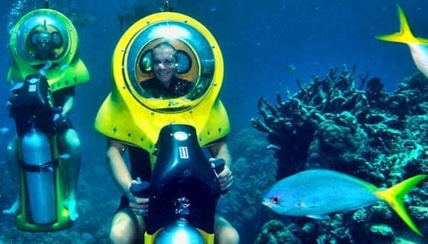 Boys bob-diving
