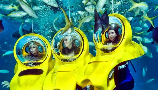 Girls enjoy a bob diving experience