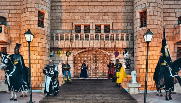 Knights and a castle in Tenerife