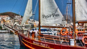 Peter Pan piratenschip in Puerto Colon