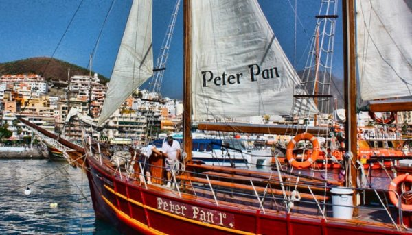 Peter pan pirate ship in Puerto Colon
