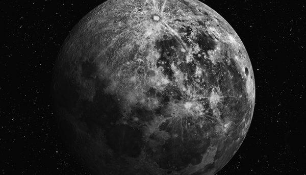 Watching moon during stargazing trip