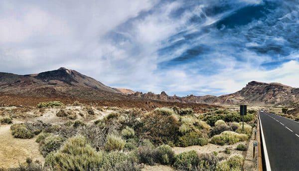 Road to El Teide national park