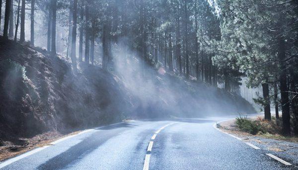 Road on Teide trip