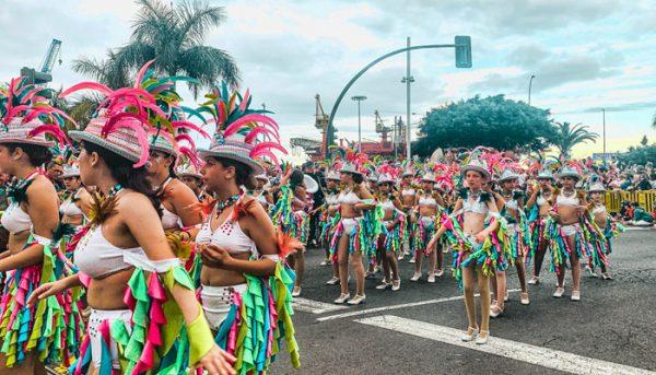 ladies dancing during Carnival in Tenerife