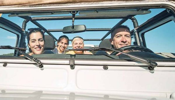 Group of people on a jeep tour in Tenerife