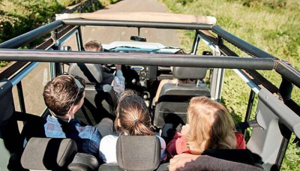 Group on a jeep trip in Tenerife