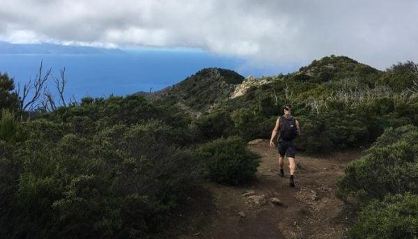 Roy Schijvens hiking near Masca