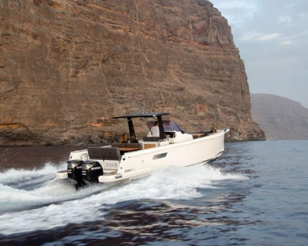 Yacht in Tenerife cruising