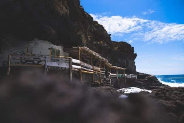A small house on the coast line of La Palma