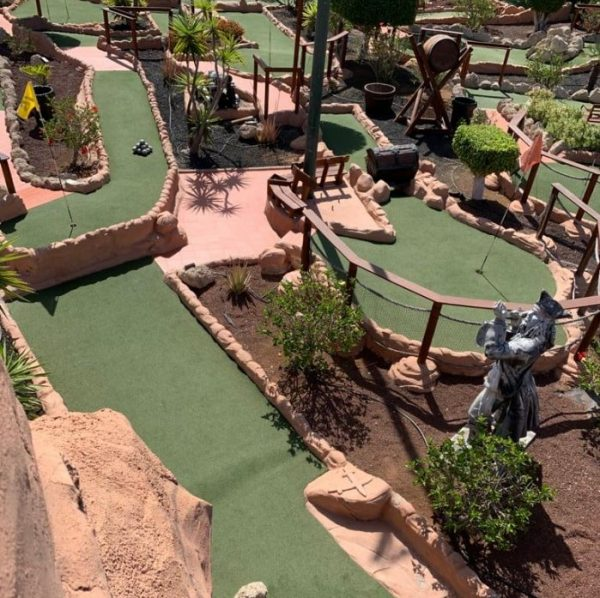 Pleasant mini golf course in the south of Tenerife