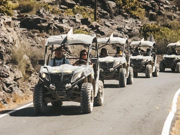 3 buggies on safari through Costa Adeje