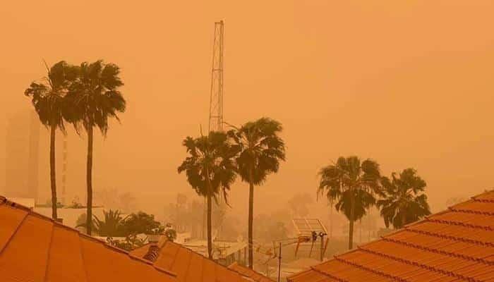 Calima in Tenerife, gele luchten